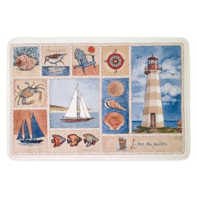 Avanti Lake Collage 20-Inch x 30-Inch Memory Foam Kitchen Mat