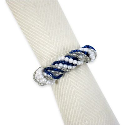 Excell Light Up the Lights Napkin Rings in Blue (Set of 4)