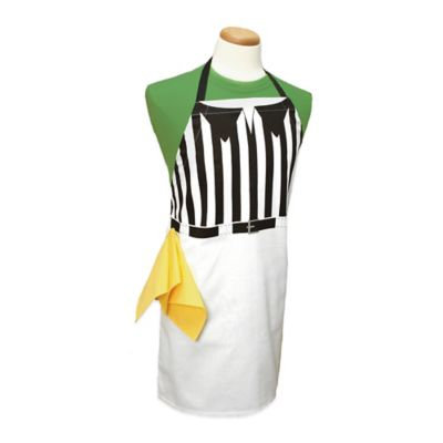 Referee Print Apron in Black/White