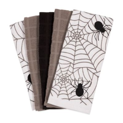 Assorted 5-Pack Spider Web Towels