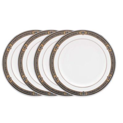 Blue Gold Tidbit Plates