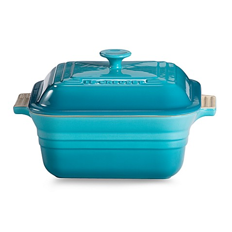 Le Creuset® Heritage 3-Quart Covered Square Casserole in Carribean