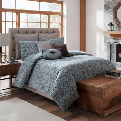 Silverado Twin Duvet Cover in Teal