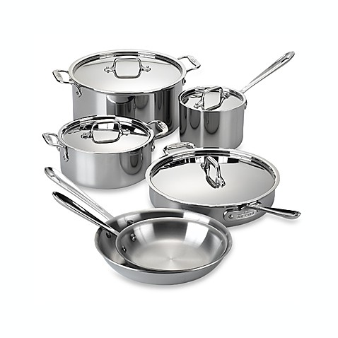 All-Clad Stainless Steel 10-Piece Cookware Set and Open Stock
