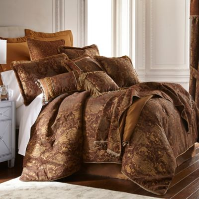 Sherry Kline China Art Queen Comforter Set in Brown