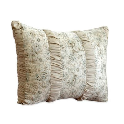 Nostalgia Home Agnes Oblong Throw Pillow in Ivory/Taupe