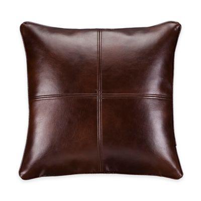 Silverado Aztec Square Throw Pillow in Grey