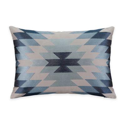 Silverado Aztec Oblong Throw Pillow in Teal