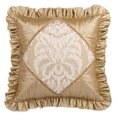 Austin Horn Collection Angelina Shirred Diamond Jacquard Square Throw Pillow