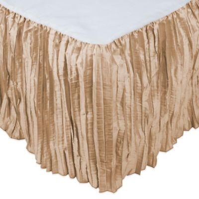 Austin Horn Collection Angelina King Bed Skirt in Champagne