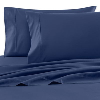 Wamsutta® 620-Thread-Count Egyptian Cotton Olympic Queen Sheet Set in Navy