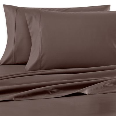 Wamsutta® 620-Thread-Count Egyptian Cotton Solid Dual California King Sheet Set in Charcoal