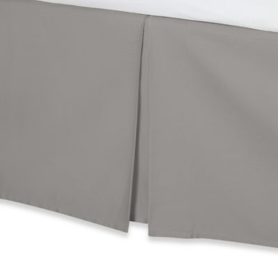 Wamsutta® 400-Thread-Count Cotton 15-Inch Drop Twin Bed Skirt in Silver