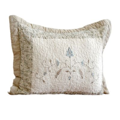 Nostalgia Home Agnes Standard Pillow Sham in Ivory/Taupe