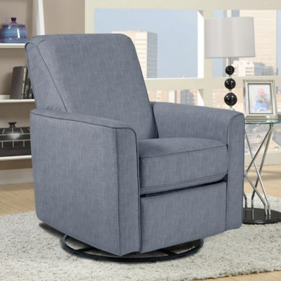 Pulaski Harmony Swivel Glider Chair in Grey