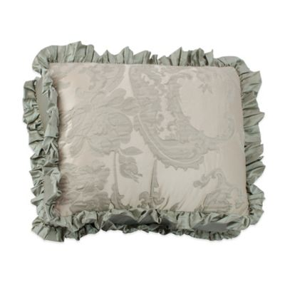 Austin Horn Collection Cascata Jacquard Ruffle Oblong Throw Pillow