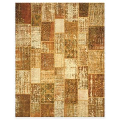 Beekman 1802 Kindfolk Patchwork 6-Foot x 9-Foot Rug in Honey