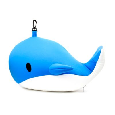 Kikkerland® Zip & Flip Whale Travel Pillow