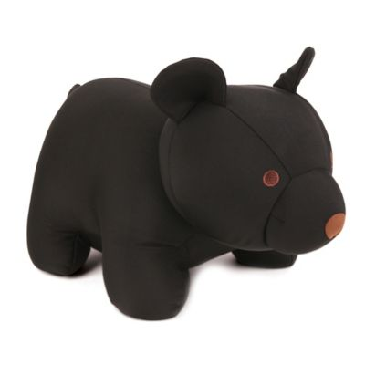 Kikkerland® Zip & Flip Black Bear Travel Pillow