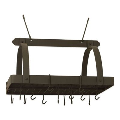 Old Dutch International 24-Hook Pot Rack in Graphite