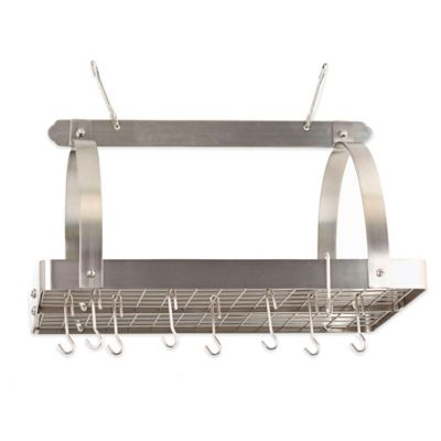 Satin Nickel Pot Racks
