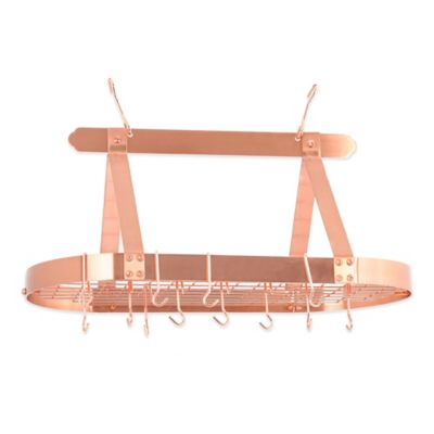 Old Dutch International Hanging 16-Hook Pot Rack in Satin Copper