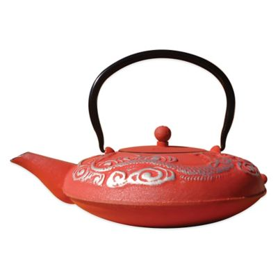 "Old Dutch International Unity® 40 oz. ""Nara"" Teapot in Red/Silver"