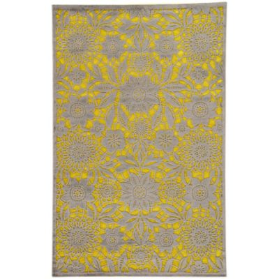 Jaipur Fables Vivrant 7-Foot 6-Inch x 9-Foot 6-Inch Area Rug in Green/Grey