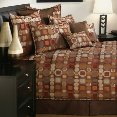 Sherry Kline Metro King Comforter Set in Spice