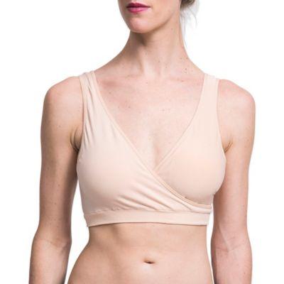 Au Lait® Medium Seamless Lounge Nursing Bra in Nude