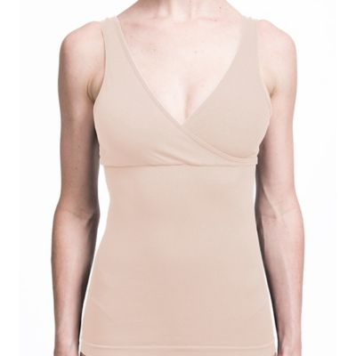 Au Lait® Medium Seamless Tummy Shaping Nursing Tank in Nude