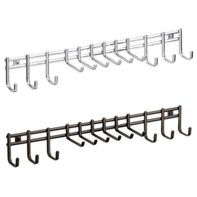 InterDesign® Axis Wall-Mount Tie/Belt Rack in Bronze