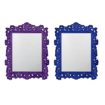 Blue Floor Mirror