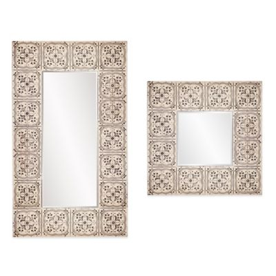 Howard Elliott® 48-Inch x 84-Inch Upton Rectangle Mirror in Antique Beige