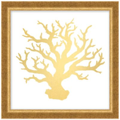 Gold Coral I Framed Wall Art