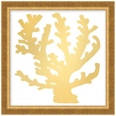 Gold Coral II Framed Wall Art