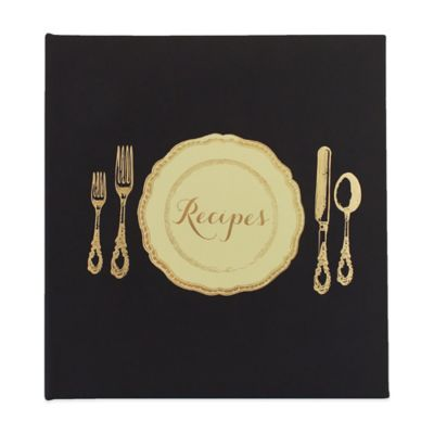 "Eccolo™ ""Recipes"" Table Setting Recipe Keeper in Black"