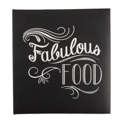 "Eccolo™ ""Fabulous Food"" Recipe Keeper in Black"