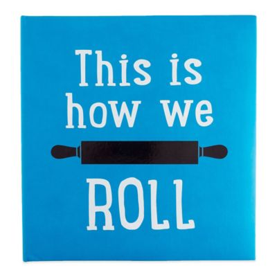 "Eccolo™ ""How We Roll"" Recipe Keeper in Aqua"