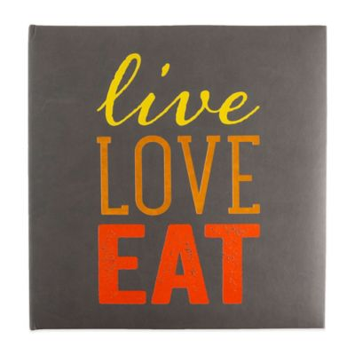 "Eccolo™ ""Live, Love, Eat"" Recipe Keeper in Grey"