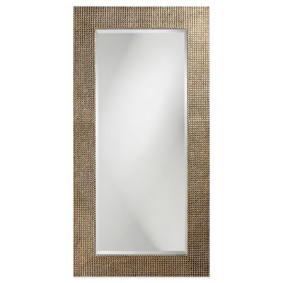 Brown Silver Rectangular Mirror