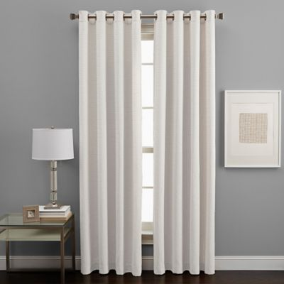 West End Grommet 108-Inch Room Darkening Window Curtain Panel in Alabaster