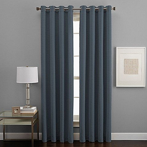 Buy West End Grommet 84 Inch Room Darkening Window Curtain Panel In Peacock Blue From Bed Bath