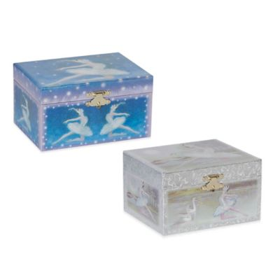 Mele & Co. Martina Girl's Musical Ballerina Jewelry Box in Blue