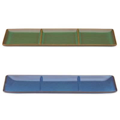 Blue Divided Tray