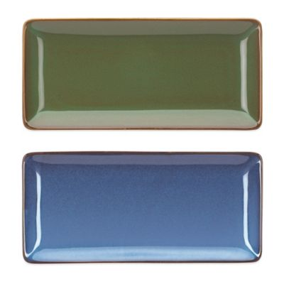 Blue Rectangular Trays