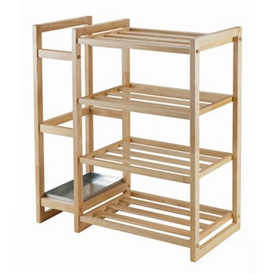 Winsome Trading Isabel Shoe Rack and Umbrella Stand in Natural