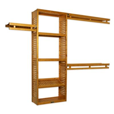 Simplicity Wood Closet Organizer in Honey Amber
