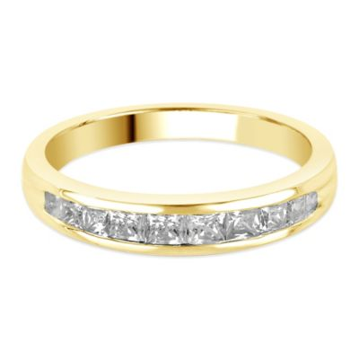 14K Gold .50 cttw Princess-Cut Diamond Size 5 Ladies' Channel-Set Wedding Band