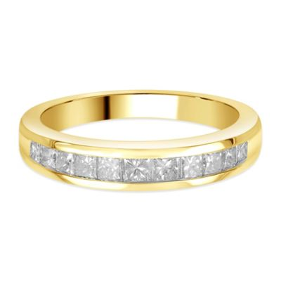 14K Gold .75 cttw Princess-Cut Diamond Size 5 Ladies' Channel-Set Wedding Band